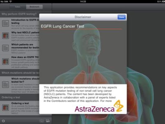 AstraZeneca AZ EGFR mutation iPad app