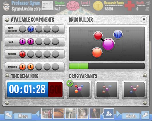 Boehringer Ingelheim Facebook game Syrum drug builder