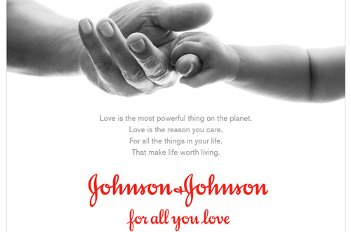 J&J corporate brand campaign