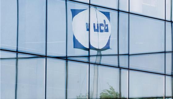 UCB building logo