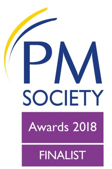 PM Society Awards 2018 Finalist