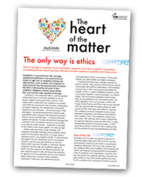 The Heart of the Matter 5: the only way is ethics