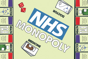 An NHS version of the board game Monopoly
