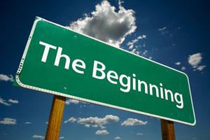Beginning sign