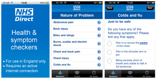 NHS Direct mobile health app