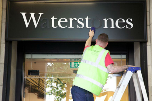 NHS Missing Type campaign Waterstones