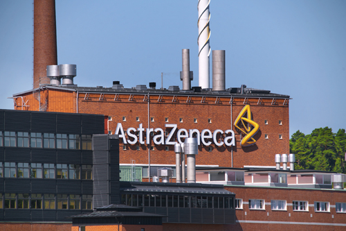 AstraZeneca logo building