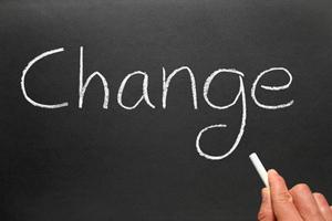 Change written on a blackboard - CME