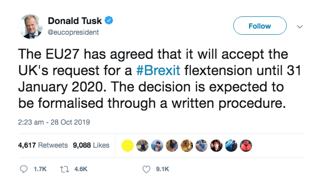 Donald Tusk Tweet