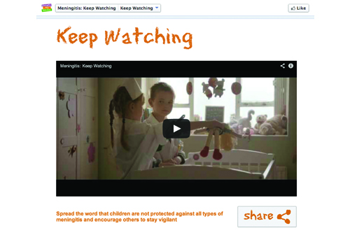 Novartis Ruder Finn meningitis campaign video Facebook