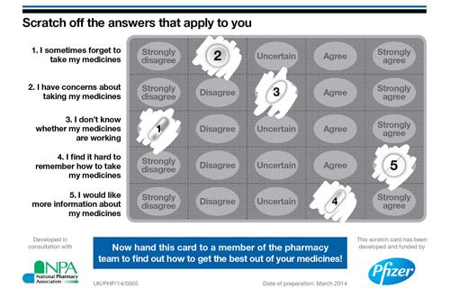 Scratch-card-medicines optimisation